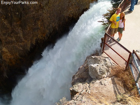 Brink of the Lower Falls, Grand Canyon of the Yellowstone, Yellowstone National Park