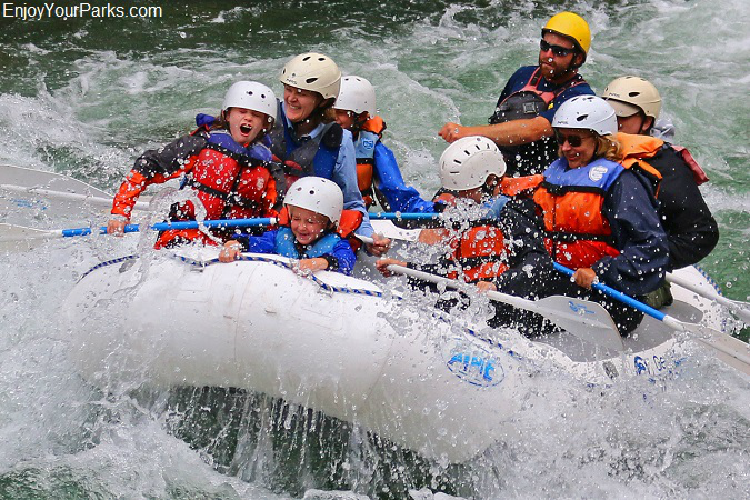 Gallatin River Canyon white water rafting