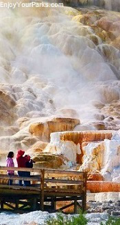 Mammoth Hot Springs, Yellowstone National Park Wyoming