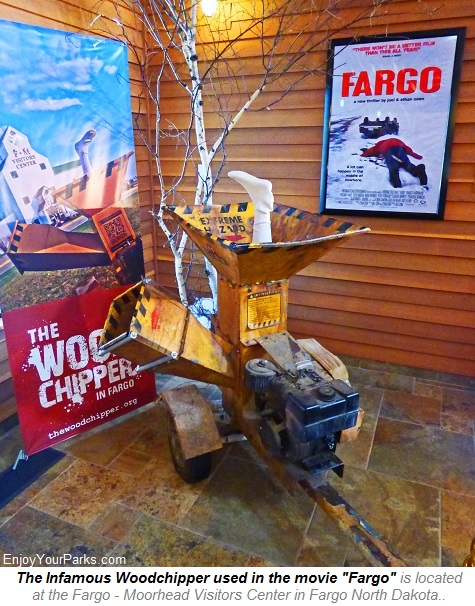 Fargo Woodchipper, Fargo Visitors Center, Fargo North Dakota