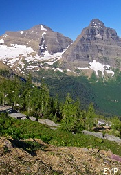 Kintla Peak, Kinnerly Peak, Boulder Pass Trail, Glacier National Park