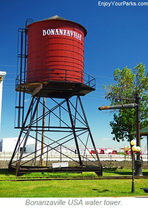 Bonanzaville USA water tower, Fargo North Dakota