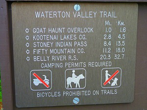 Waterton Valley Trail, Glacier Park