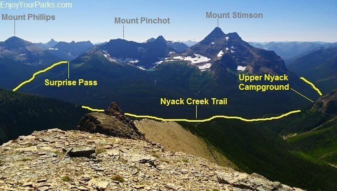 Nyack Creek - Coal Creek Trail Loop in Glacier National Park
