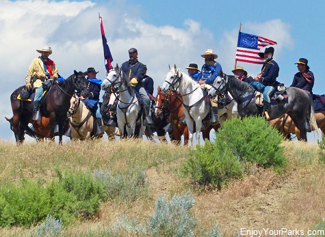 Battle of the Little Bighorn Re-Enactment, Little Bighorn Battlefield National Monument
