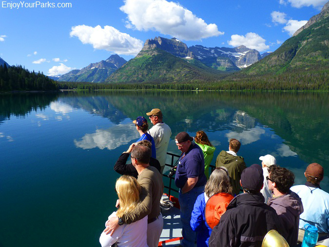 Waterton Lake Boat Tour to Goat Haunt Montana in Glacier National Park