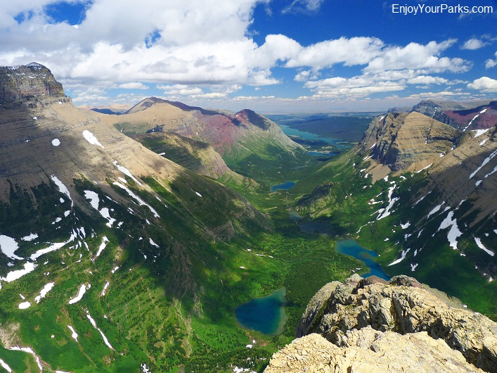 Swiftcurrent Mountain summit view, Glacier National Park