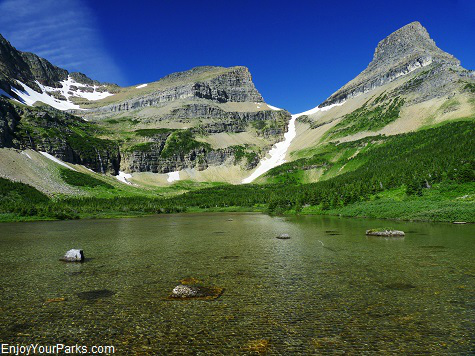 Glacial tarn, Stoney Indian Pass Trail, Glacier National Park