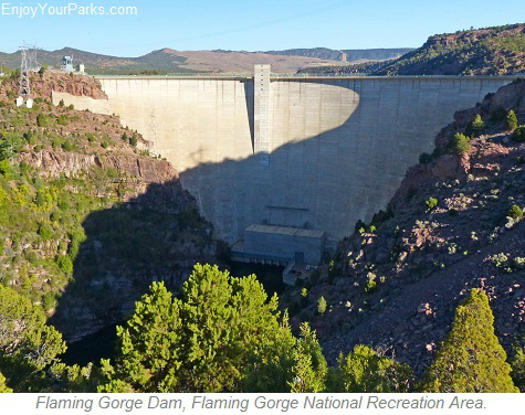 Flaming Gorge Dam, Flaming Gorge National Recreation Area