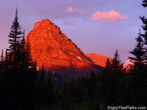 Sinopah Mountain as viewed from the South Shore Trail, Glacier National Park