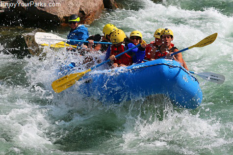 Visitors enjoying the whitewater of the legendary Gallatin River, Montana.