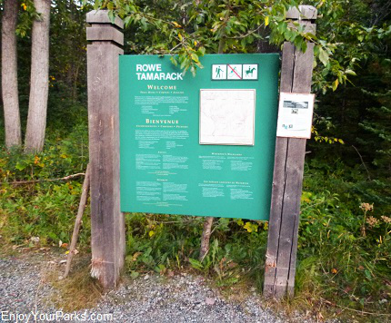 Rowe Lakes Trailhead sign, Waterton Lakes National Park