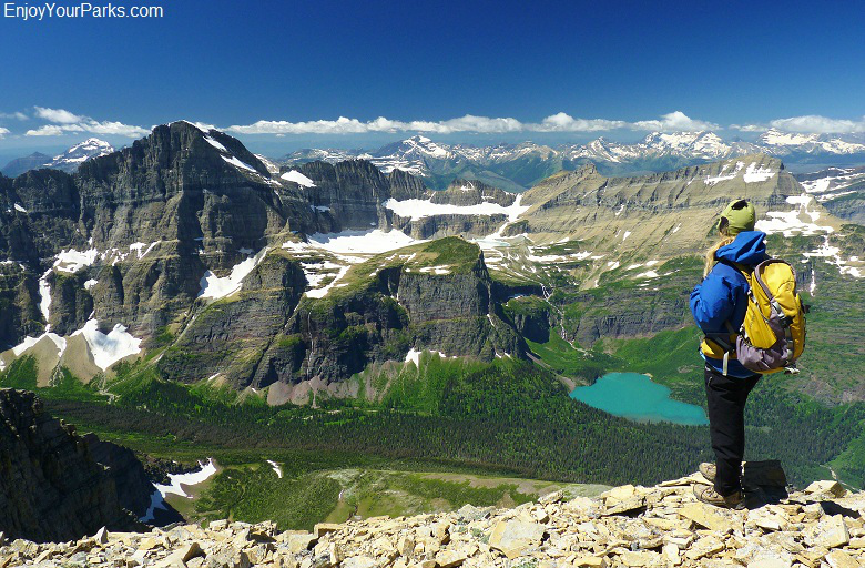 Allen Mountain summit view, Glacier National Park