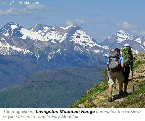 Livingston Mountain Range, Highline Trail, Glacier Park