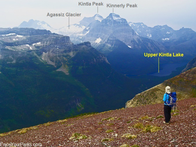 A view of Kintla Peak Area of Glacier National Park from Akamina Ridge