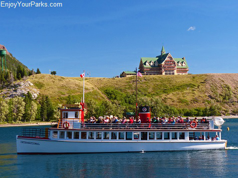 Wooden boat International at Waterton Park Marina, Waterton Lakes National Park