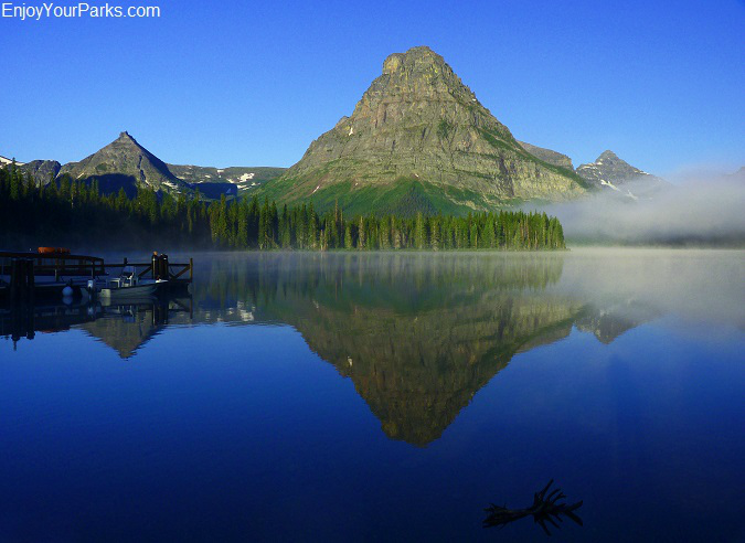 Two Medicine Lake with Sinopah Mountain, Glacier National Park