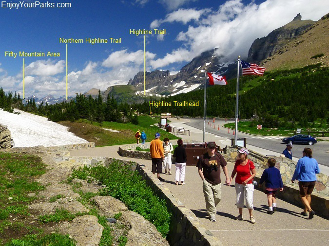 Logan Pass, Highline Trailhead, Glacier Park
