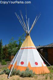 Native American Tepee, Fort Washakie Wyoming
