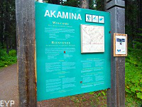 Akamina Pass Trailhead Sign