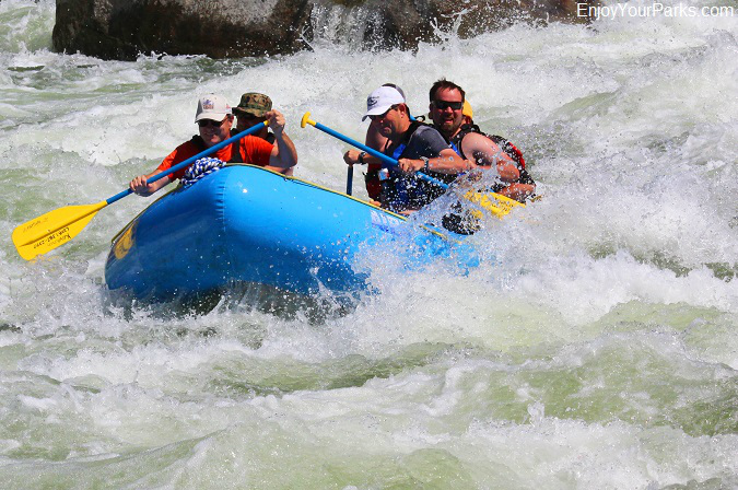 White water rafters, Payette River National Scenic Byway, Idaho
