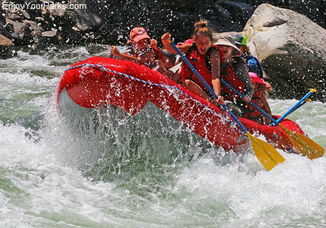 White water rafters, Salmon River, Idaho