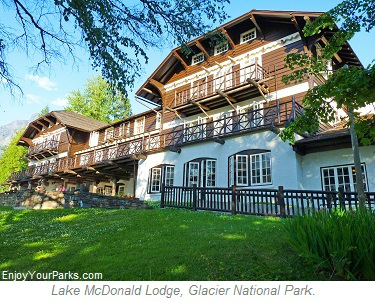 Lake McDonald Lodge, Glacier Park Lodging, Glacier National Park