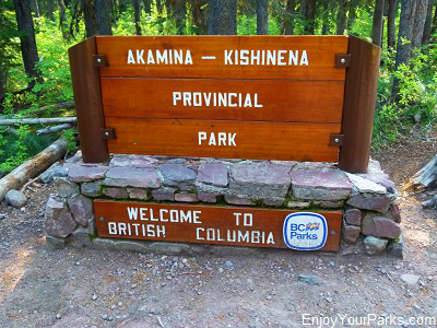Akamina-Kishinena Provincial Park sign, Akamina Ridge Trail, Waterton Lakes National Park
