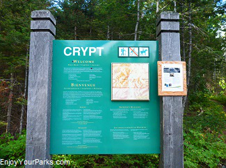 Crypt Lake Trail sign, Waterton Lakes National Park