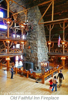 Old Faithful Inn Fireplace, Yellowstone National Park