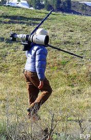 Wildlife photographer, Lamar Valley, Yellowstone National Park