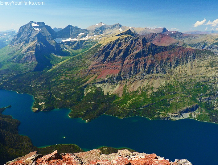 Red Eagle Peak summit view, Glacier National Park