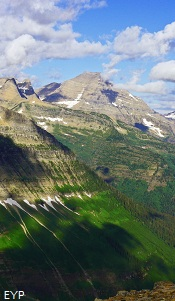 View of Mount Stimson from Dawson  Pass, Glacier National Park