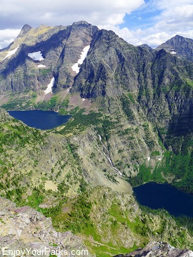 View from Lincoln Peak, Sperry Chalet, Glacier National Park