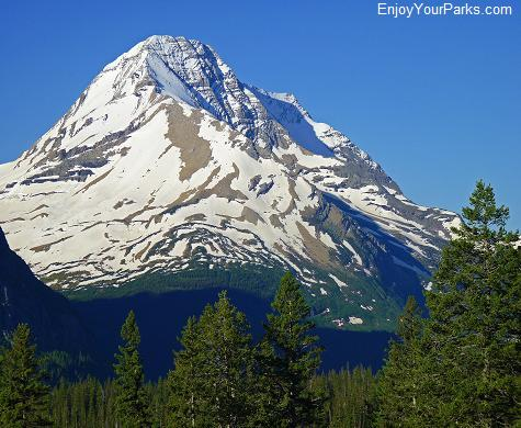 View of Mount Jackson from Going To The Sun Road, Glacier National Park