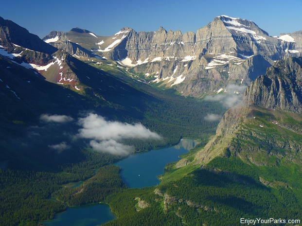 View of Mount Gould from Altyn Peak, Glacier National Park