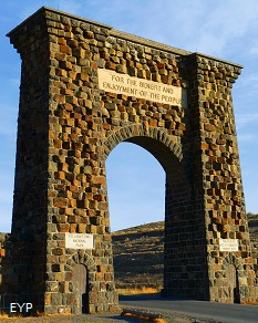 Roosevelt Arch, Yellowstone National Park