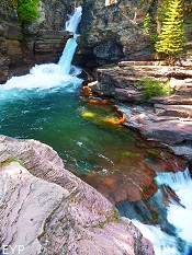 Saint Mary Falls, Glacier National Park