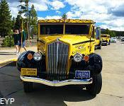 Yellowstone Park Yellow Bus, Old Faithful Area, Yellowstone National Park