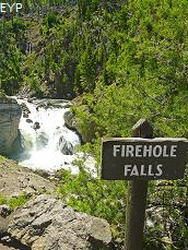 Firehole Falls on the Firehole River Drive, Madison Junction Area, Yellowstone National Park